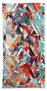 Textured Structural Abstract Beach Towel