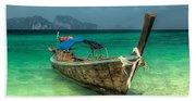 Thai Boat  Beach Towel