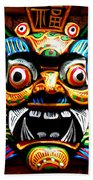 Thai Buddhist Mask Beach Towel