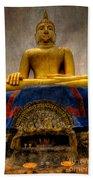 Thai Golden Buddha Beach Towel