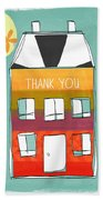 Thank You Card Beach Towel