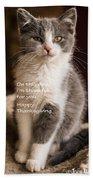 Thanksgiving Kitty Beach Towel