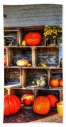Thanksgiving Pumpkin Display No. 1 Beach Towel