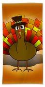 Thanksgiving Turkey Pilgrim Beach Towel