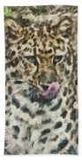 That Was Delicious Beach Towel by Trish Tritz