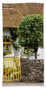Thatched Cottage House Beach Towel