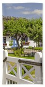 Thatched Roof Cottage Beach Towel