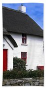 Thatched Roof House Beach Towel