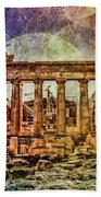 The Acropolis Of Athens Beach Towel