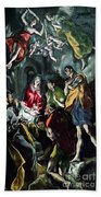 The Adoration Of The Shepherds From The Santo Domingo El Antiguo Altarpiece Beach Towel