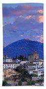 The Alhambra And Granada Beach Towel