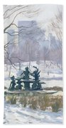 The Alice In Wonderland Statue, Central Park, New York Beach Towel