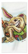 The Altered Easter Bunny Beach Towel