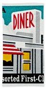 The American Diner  Beach Towel