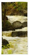 The Amsden River Wyoming Beach Towel
