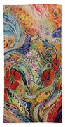 The Anemon Flowers Beach Towel