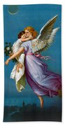 The Angel Of Peace Beach Towel by B T Babbitt