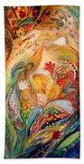 The Angels On Wedding Triptych - Left Side Beach Towel