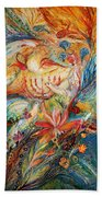 The Angels On Wedding Triptych - Right Side Beach Towel