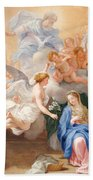 The Annunciation Beach Towel by Giovanni Odazzi