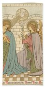 The Annunciation Of The Blessed Virgin Mary Beach Towel