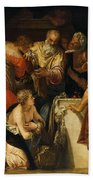 The Anointment Of David Beach Towel