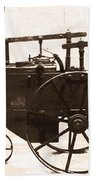 The Antique Farming Machine  Beach Towel