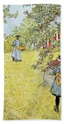The Apple Harvest Beach Towel by Carl Larsson