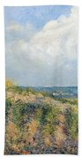 The Approaching Storm Beach Towel by Camille Pissarro