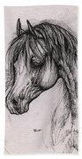 The Arabian Horse With Thick Mane Beach Towel