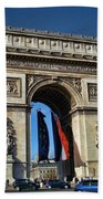 The Arc De Triomphe De Etoile  Beach Towel