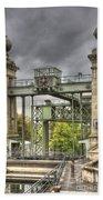 The Art Nouveau Ships Elevator - Portal View Beach Towel