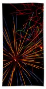 The Art Of Fireworks  Beach Towel