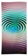 The Art Of Ripples Beach Towel
