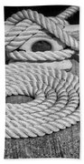 The Art Of Rope Lying Beach Towel