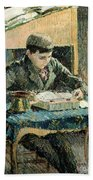 The Artists Son Beach Towel by Camille Pissarro