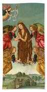 The Ascension Of Saint Mary Magdalene Beach Sheet
