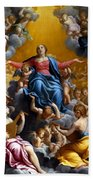 The Assumption Of The Virgin Mary Beach Towel by Guido Reni