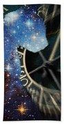 The Astronomer's Cat Beach Towel