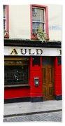 The Auld Dubliner  Beach Towel