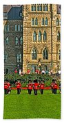 The Band Played On In Front Of Parliament Building In Ottawa-on Beach Towel