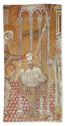 The Baptism Of St. Paul By Ananias, From Scenes From The Life Of St. Paul Mosaic Beach Towel