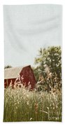 The Barn In The Distance Beach Towel