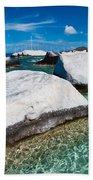 The Baths Beach Towel by Adam Romanowicz