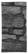The Battery Wall In Black And White Beach Towel