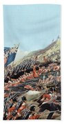 The Battle Of Alma On 20th September Beach Towel by Edmund Walker