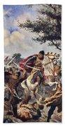 The Battle Of Bouvines, 1214 Beach Towel