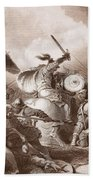 The Battle Of Hastings, Engraved Beach Towel