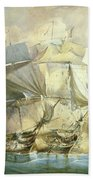 The Battle Of Trafalgar Beach Towel