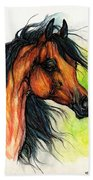 The Bay Arabian Horse 11 Beach Towel